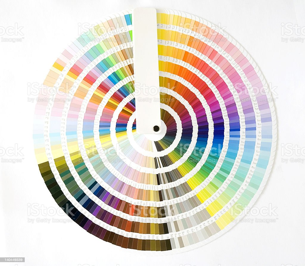 A color wheel with a rainbow of colors in every shade royalty-free stock photo