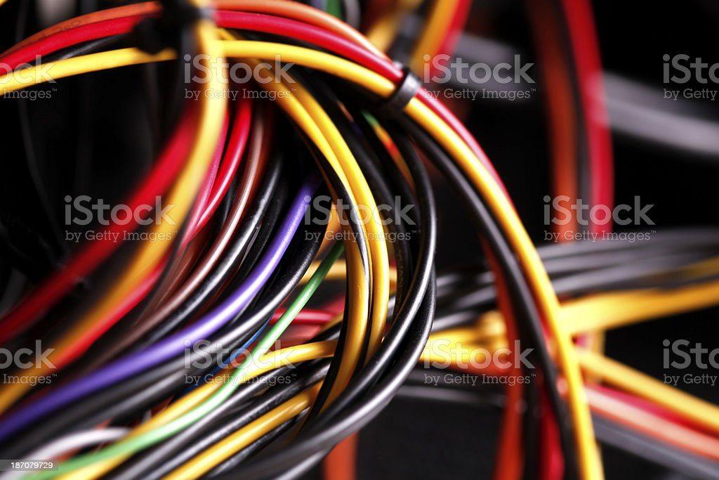 Color Wires Pc Power Cable Inside Stock Photo & More Pictures of ...