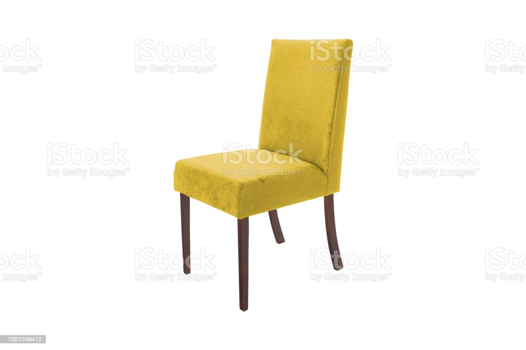 Color wood chair. Object isolated of white background