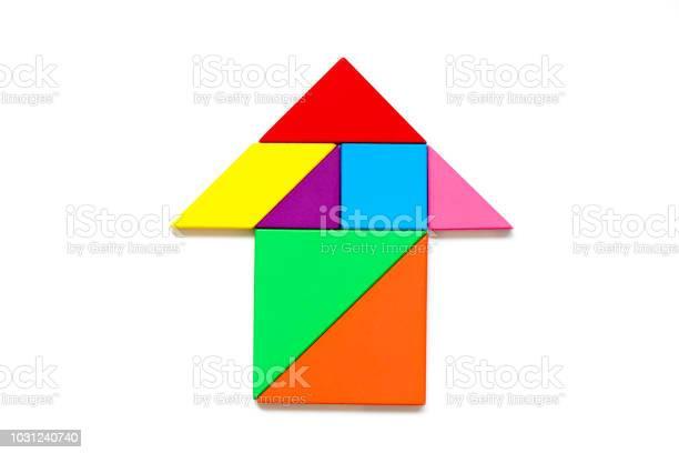 Color wood tangram puzzle in arrow shape on white background picture id1031240740?b=1&k=6&m=1031240740&s=612x612&h=swpu53jnfks8db5 md3qffdekmredosiauz72qddm1e=