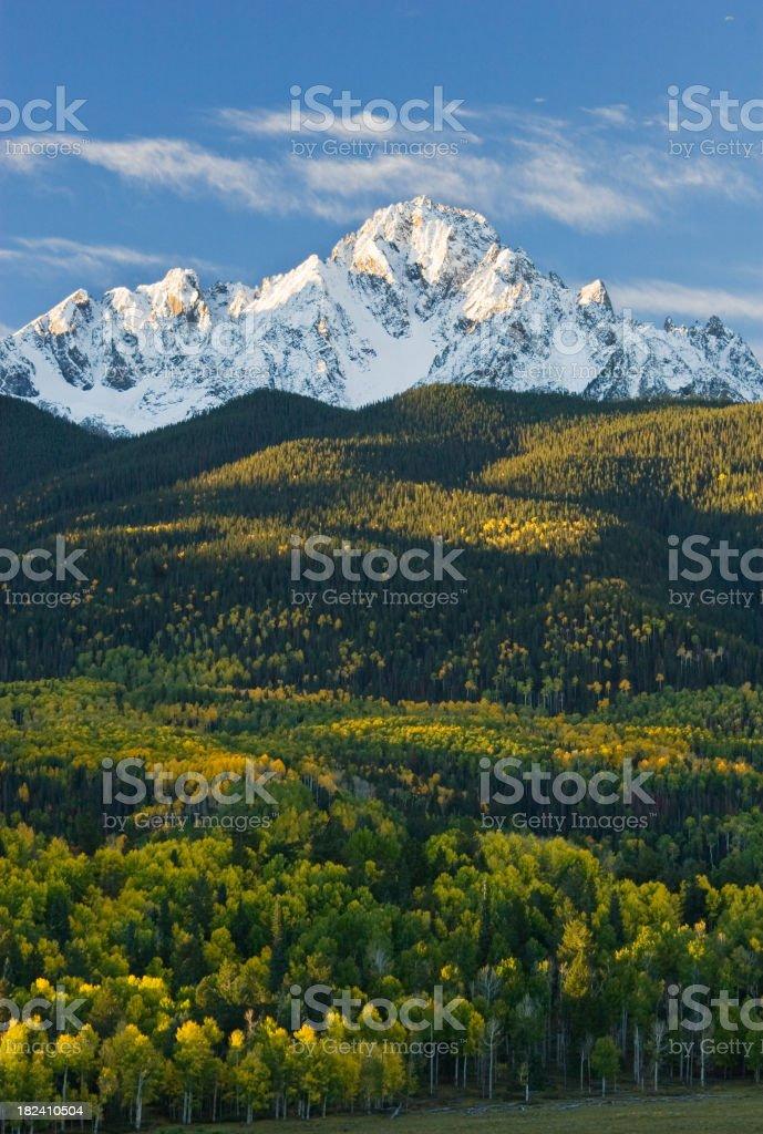 Colorado Autumn Mountain stock photo