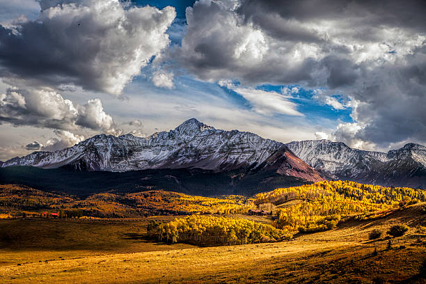 Colorado Autumn Scene stock photo