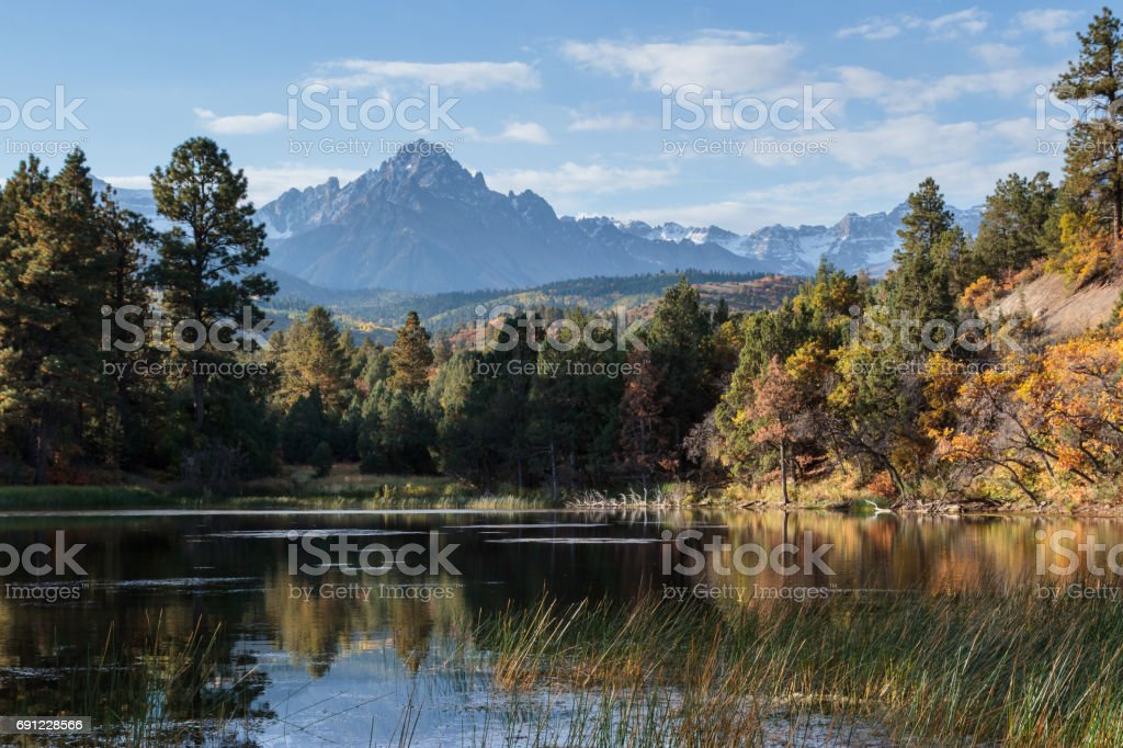 Colorado Autumn Scenery stock photo