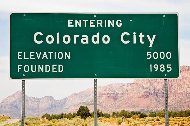 Colorado City stock photo