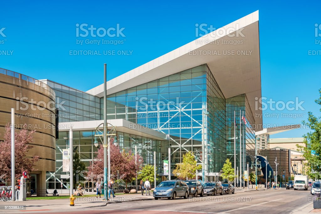 Colorado Convention Center in downtown Denver USA stock photo