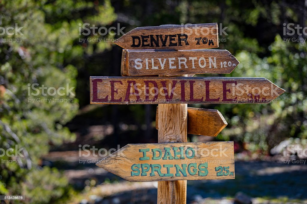 Colorado Directional Sign stock photo