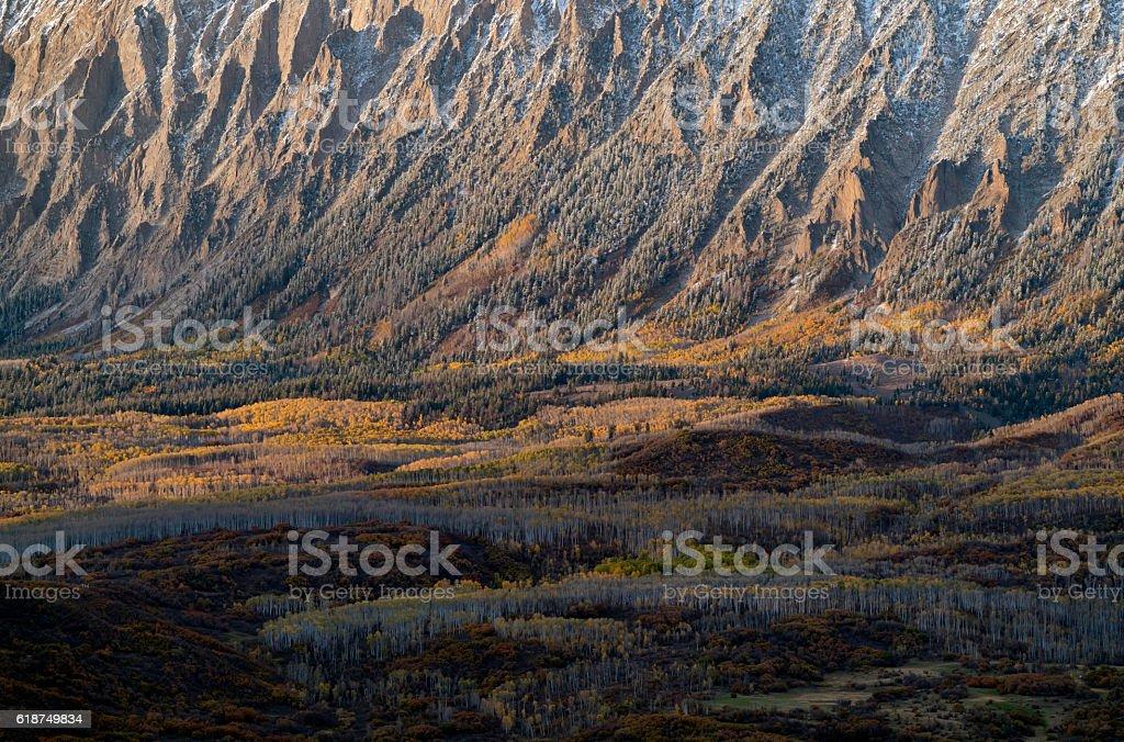 Colorado Fall Color and Mountains stock photo