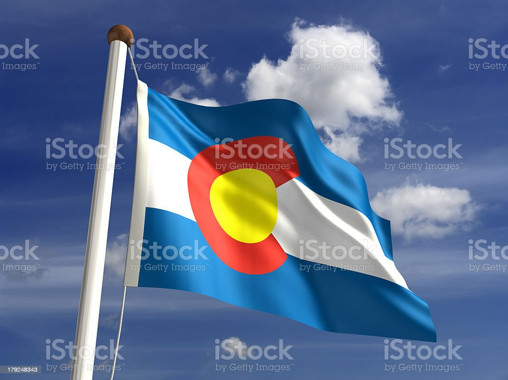 Colorado flag (with clipping path) stock photo