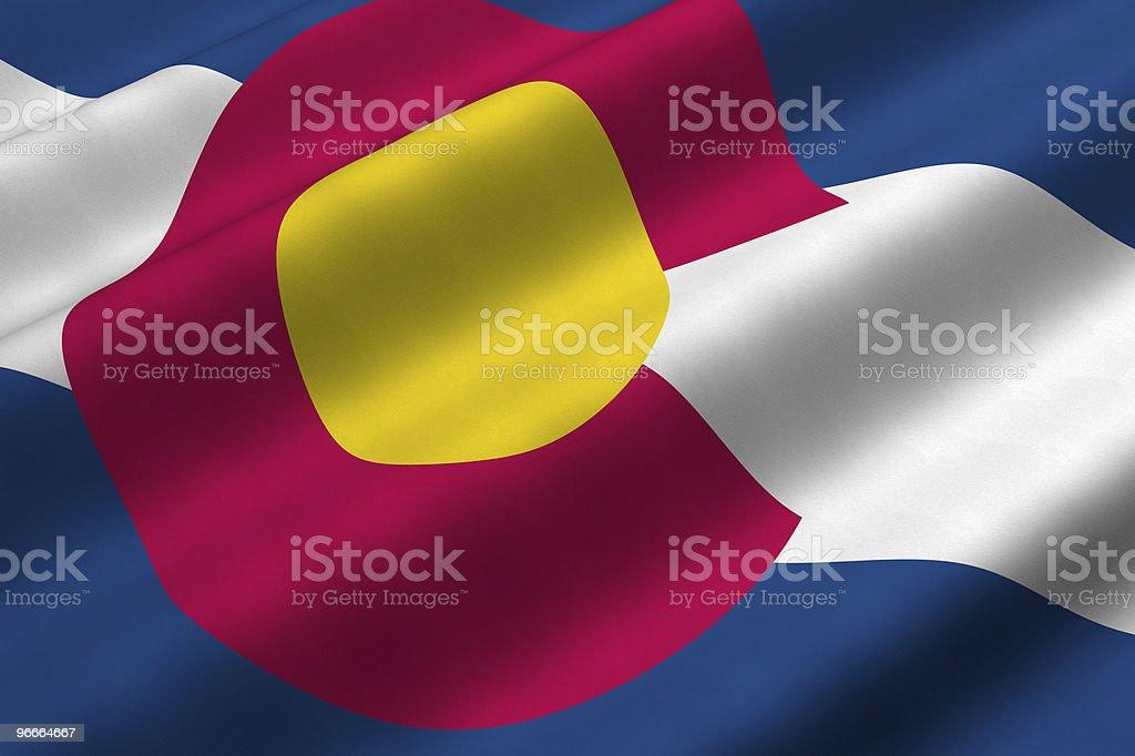 Colorado Flag stock photo