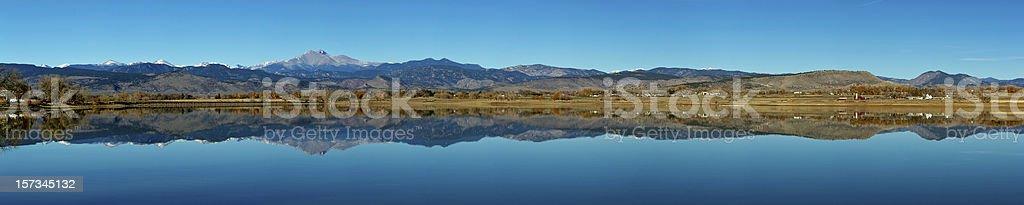 Colorado Front Range Panorama stock photo