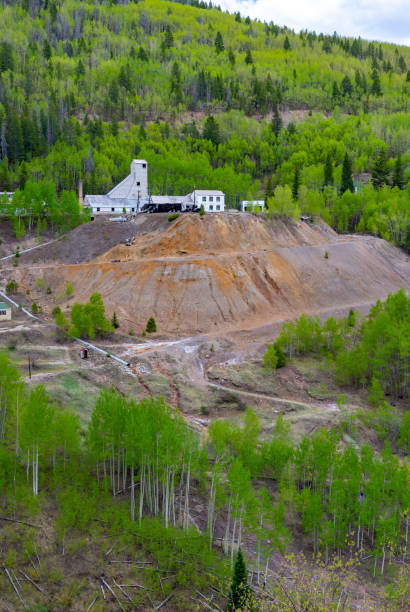 Colorado Gold Mine of Yesterday Old abandoned mine in the Colorado mountains near Minturn. minturn colorado stock pictures, royalty-free photos & images