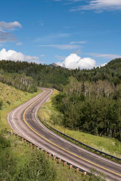 Colorado Highway 133, McClure Pass 8,755 feet stock photo