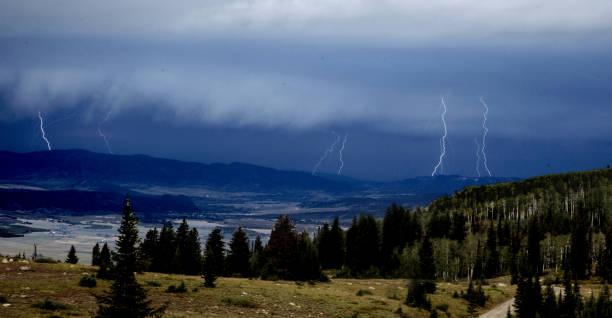 Colorado Lightning stock photo