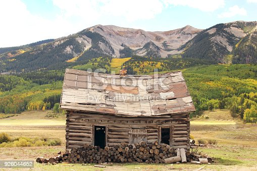 Old log cabin in Crested Butte, Colorado