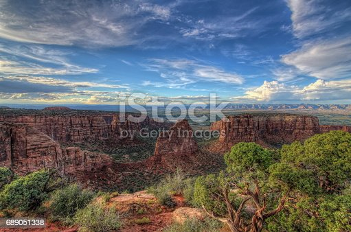 One of the many desert views at Colorado National Monument