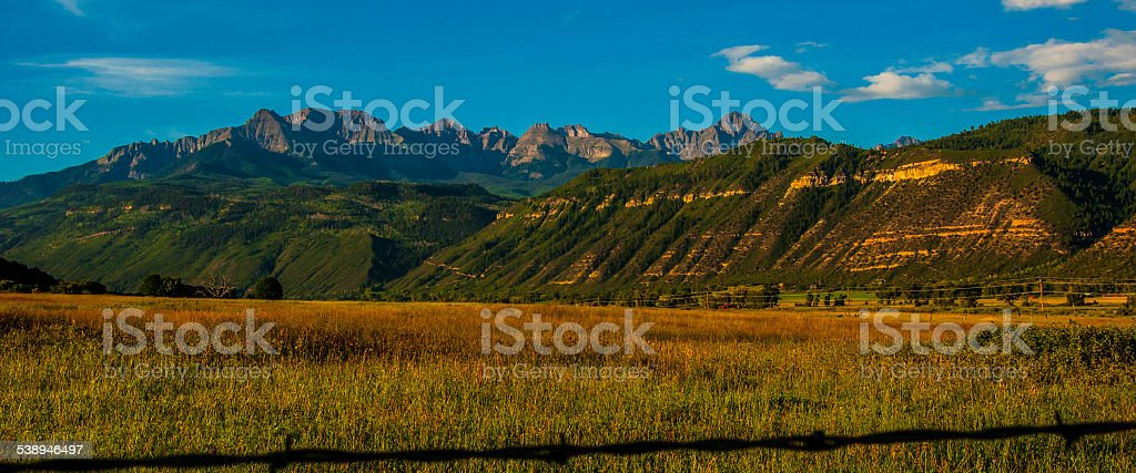 Colorado Mount Sneffels Mountain Panoramic stock photo
