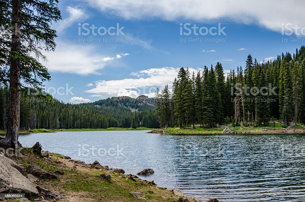 Colorado Mountain Lake stock photo