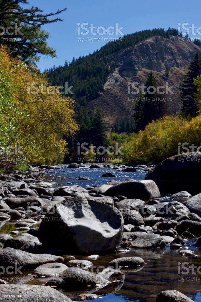 Colorado Mountain Stream stock photo