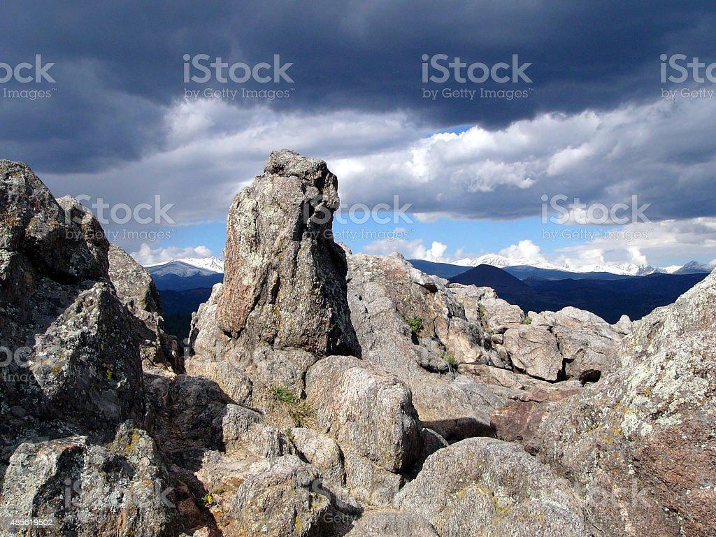 Colorado Mountain Vista stock photo