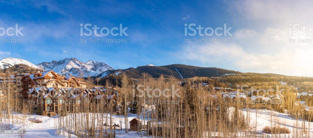 Colorado Mountains around Telluride stock photo