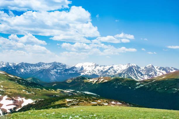 Colorado mountains summer scenery. stock photo