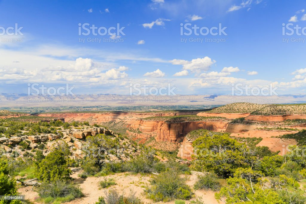 Colorado National Monument and Book Cliffs stock photo