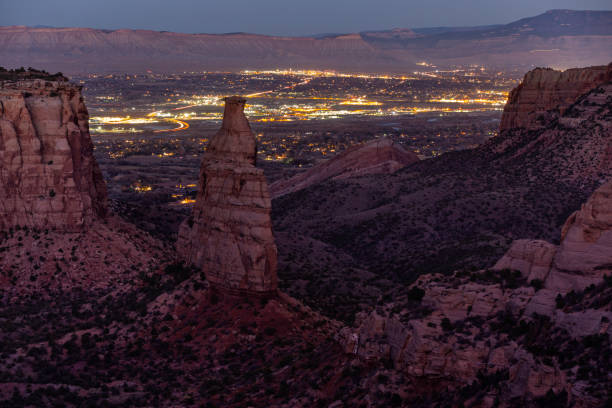 Colorado National Monument At Night stock photo