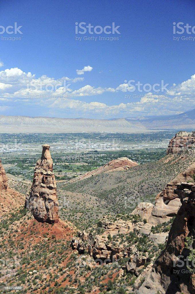 Colorado National Monument, CO, USA: Sentinel stone column royalty-free stock photo