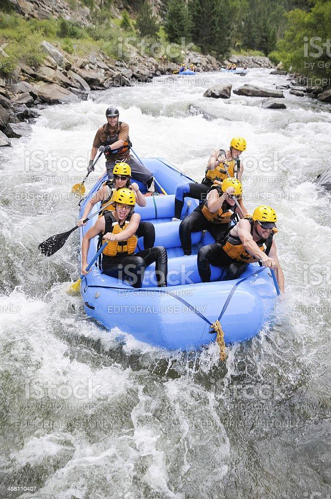 Colorado Rafting royalty-free stock photo