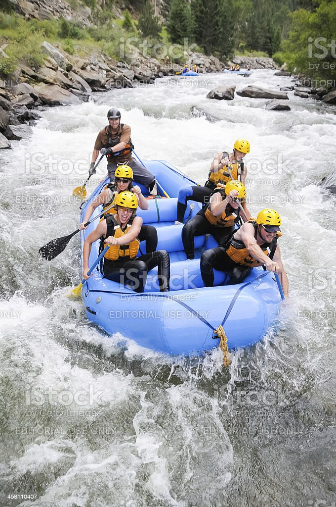 Colorado Rafting stock photo