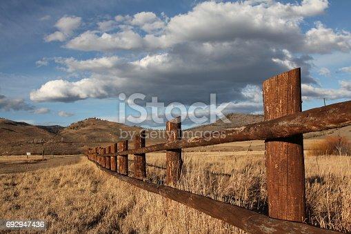 Colorado Rocky Mountains ranch fence