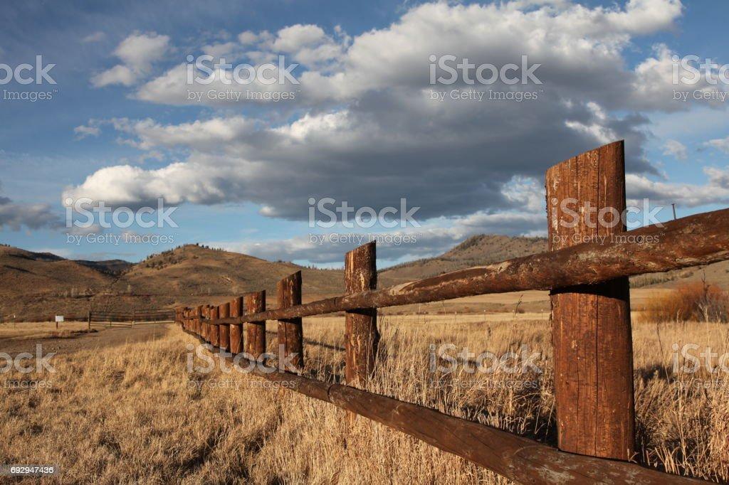 Colorado Ranch Fence stock photo