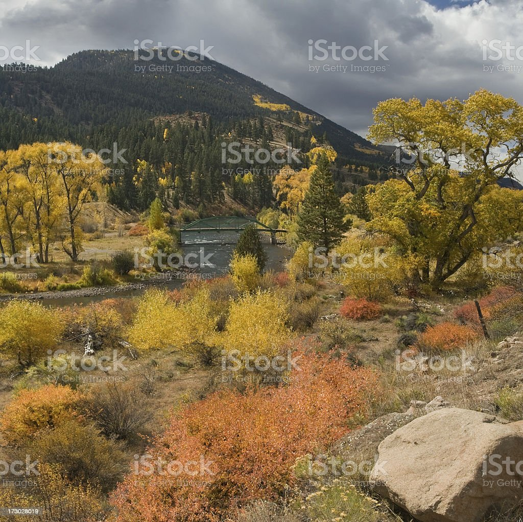 Colorado Rio Grande River Valley in Fall royalty-free stock photo