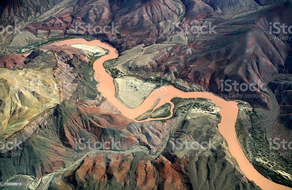 Colorado River Aerial - Grand Canyon stock photo
