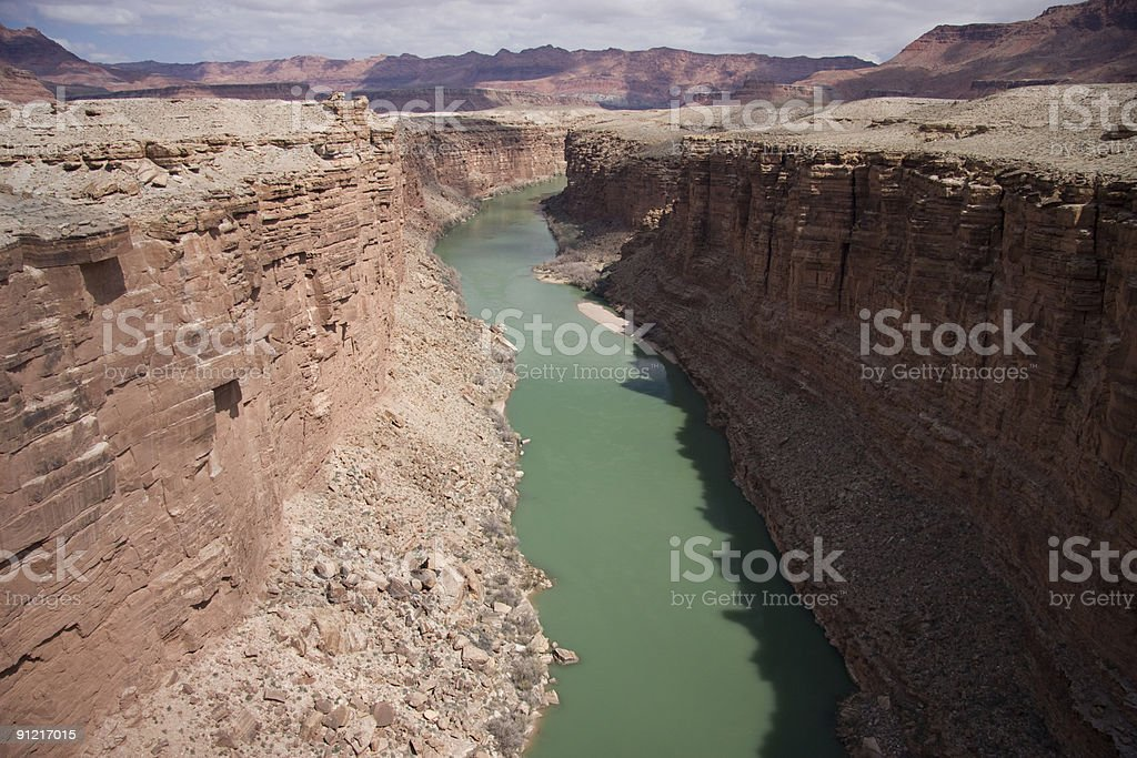 Colorado River and the Grand Canyon royalty-free stock photo