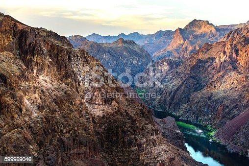 Colorado River at Black Canyon  Nevada at dawn