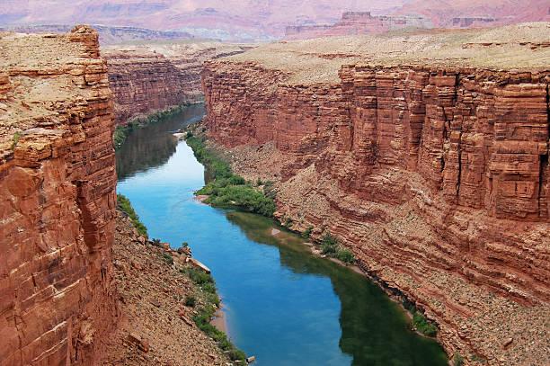Colorado River at Marble Canyon stock photo