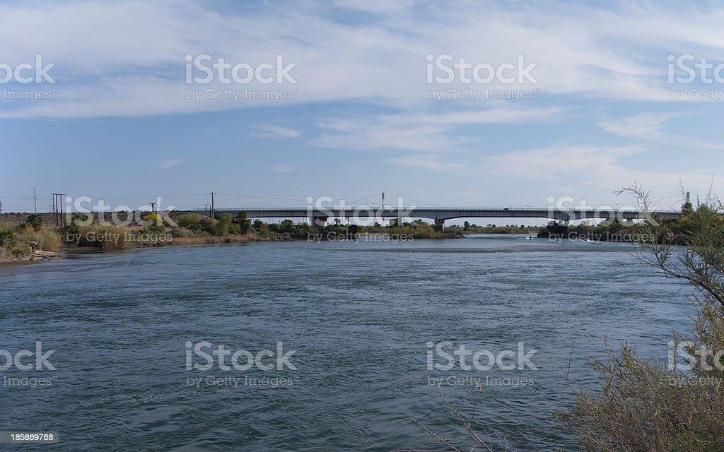 Colorado River Bridge, Blythe, CA royalty-free stock photo