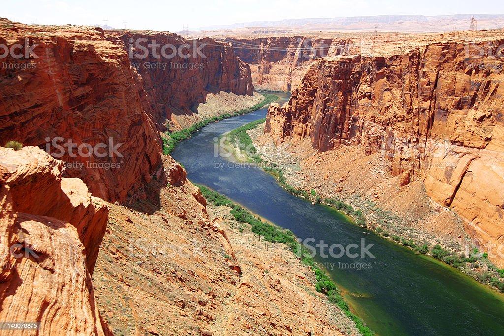 Colorado river close to Glen canyon dam royalty-free stock photo