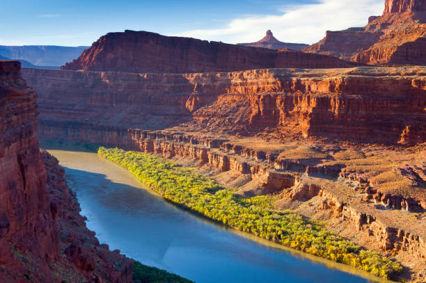 Colorado River Flowing Through Canyon Country Southwest USA stock photo