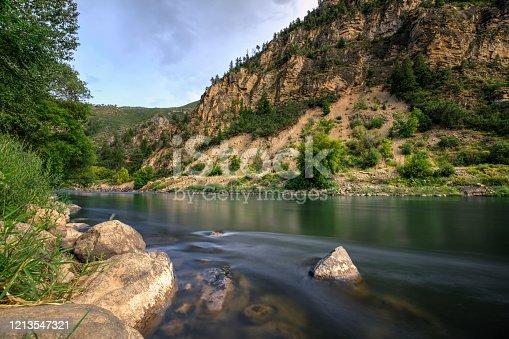Colorado River, Glenwood Canyon at Glenwood Canyons Resort, Colorado, USA