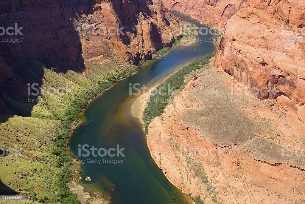 Colorado river. Horse shoe bend royalty-free stock photo