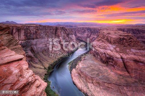 Colorado river at Horseshoe Bend, Page, AZ..
