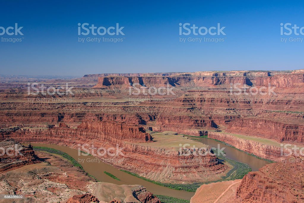 Colorado River in Canyonlands National Park, Dead horse point, Utah stock photo