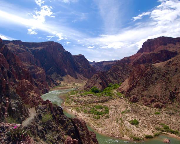 Colorado River in Grand Canyon stock photo