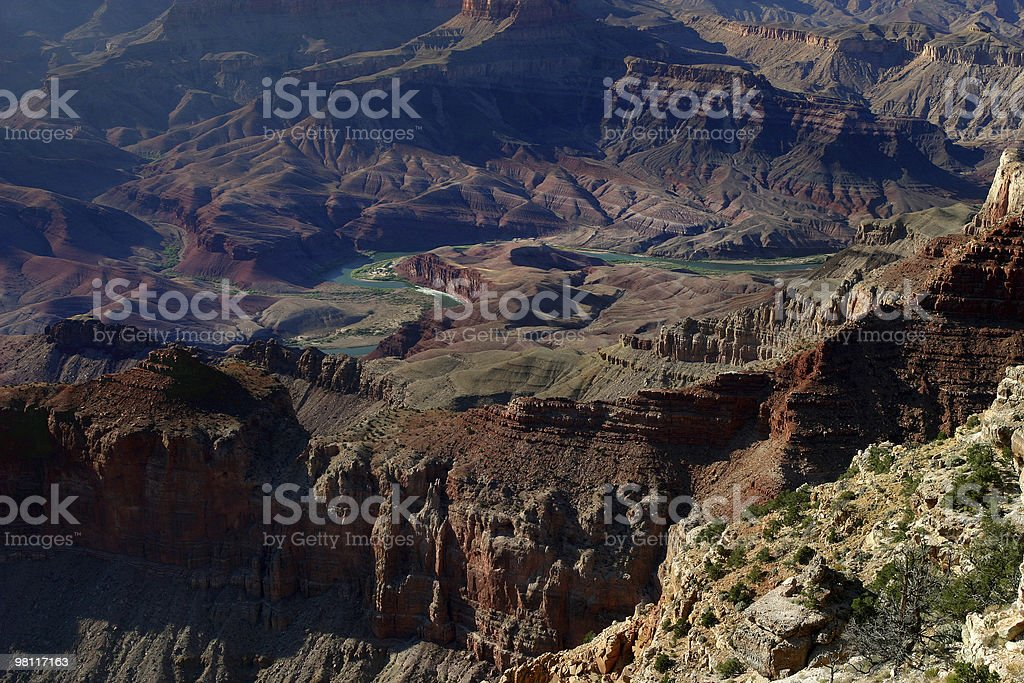 colorado river in grand canyon royalty-free stock photo