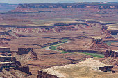 Colorado River in the canyon, Canyonlands National Park, Utah, United States.