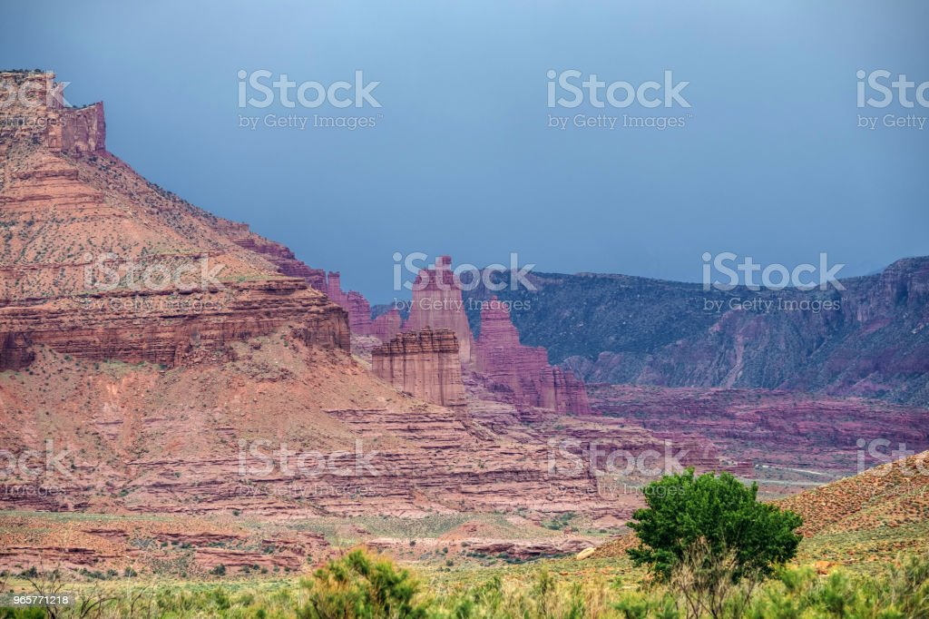Colorado River Landscape in Moab - Royalty-free Agricultural Field Stock Photo