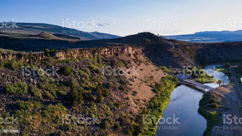 Colorado River Near Burns stock photo