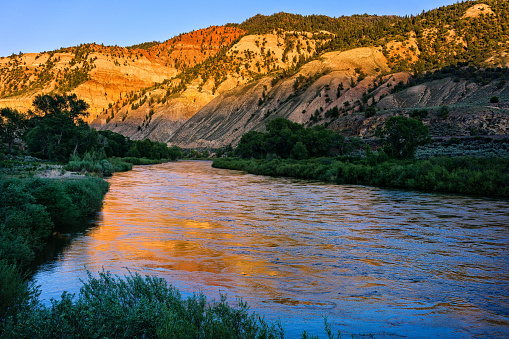 Colorado River Reflections In Water Stock Photo - Download Image Now